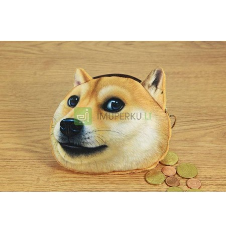 3D Dog coin bag model 1