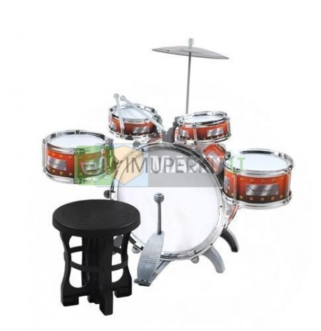 Drums 5 Drum Cymbal Stool Toy Set