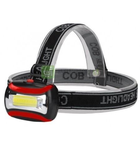 Headtorch Headlamp Headlight Flashlight Cob Led Power 3W 3 Modes Energy Saver
