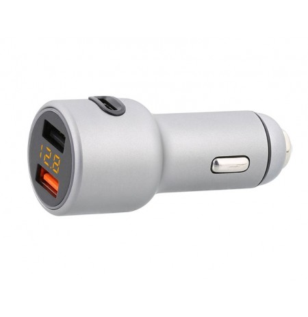 Tellur Car Charger CCY3 5.4A (2xUSB + Type-C) silver