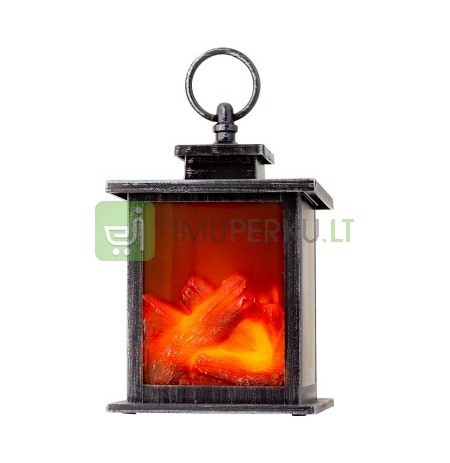 Table chimney LED operated h - 18cm b - 12cm (silv
