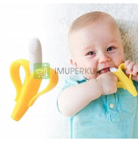 TEETHER TRAINING BRUSH BANANA TEETHING
