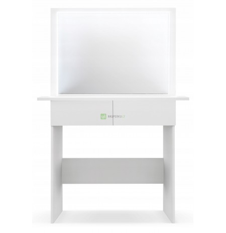 TOILET WITH mirror LED profile for make-up visage