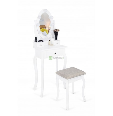 LARGE COSMETIC TOILET WITH A MIRROR DESK