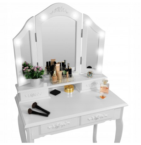 COSMETIC TOILET WITH 3 MIRRORS LED LIGHTING
