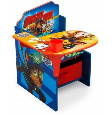 PAW PATROL DESK TABLE TABLE CHILDREN CONTAINERS